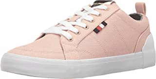 Tommy Hilfiger Womens Priss Fabric Low Top Lace Up Fashion, Pink, Size 8.0 Xhu6