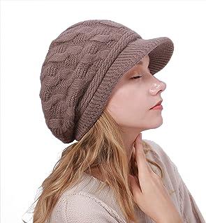 ニット帽 ツバ付き 裏ボア キャスケット レディース 小顔効果抜群 防寒対策 耳まで暖かい カジュアル 秋冬 帽子