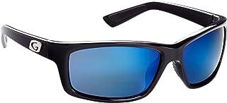 Guideline Eyegear Surface 遠近両用サングラス ディープウォーターグレー偏光レンズ付き、シャイニーブラック(+2.50)