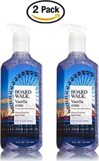 Bath & Body Works Boardwalk Vanilla Cone Deep Cleansing Hand Soap - Pair of TWO (2) Ice Cream Scented Soaps