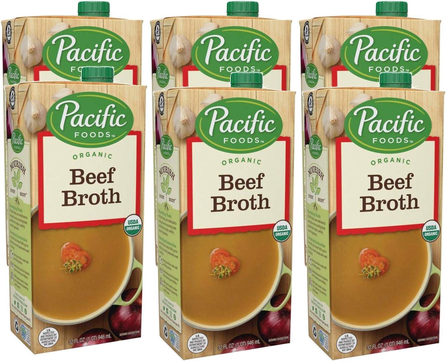 Pacific Foods Organic Gluten-Free Max 75% OFF Beef Washington Mall Broth Count - fl 6 oz 32