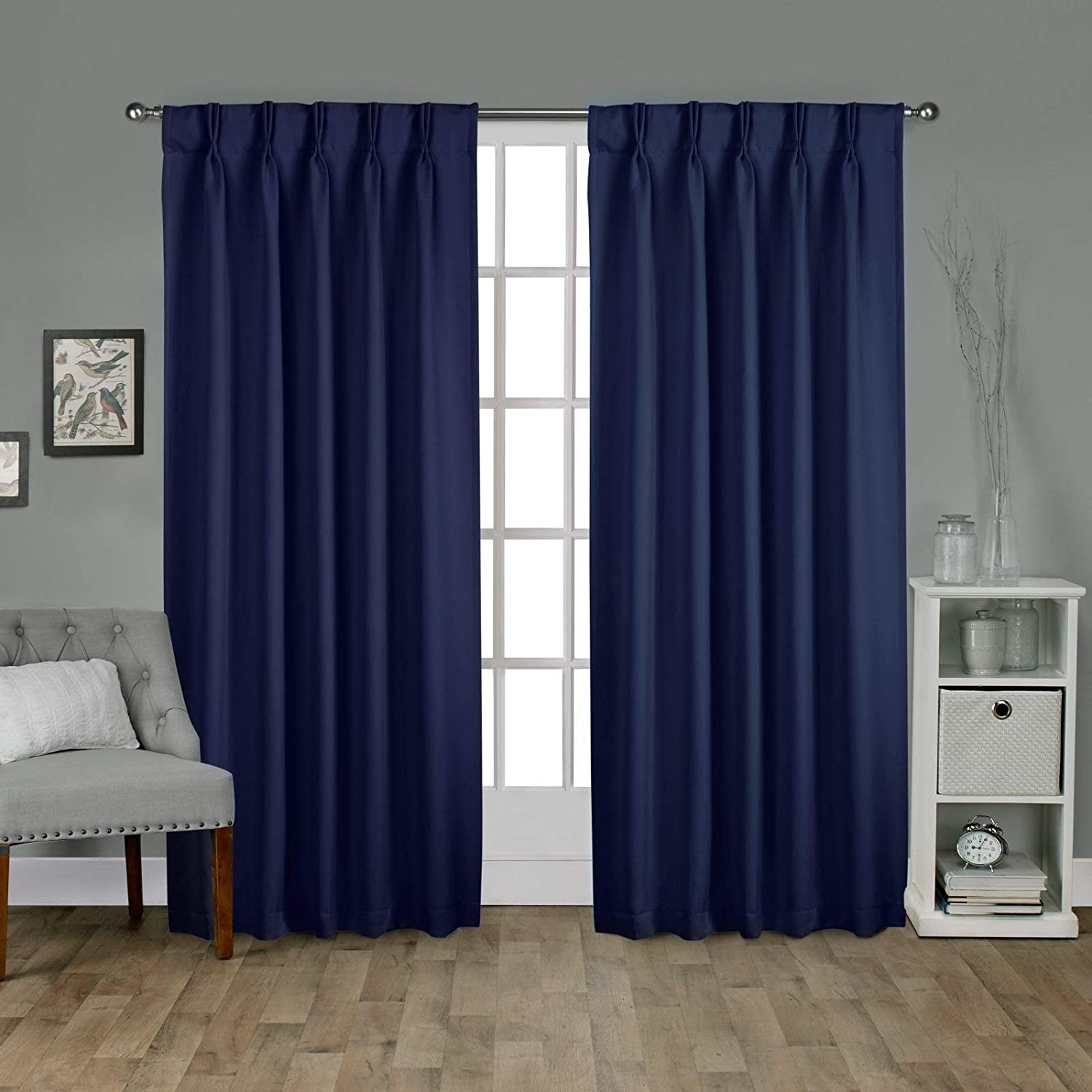 EcoDrapes Double Pinch Pleated Blackout D Albuquerque Mall Window Panel Curtain Discount mail order