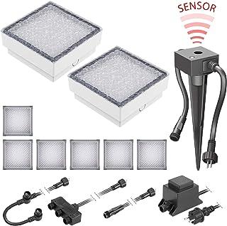 LED Pflaster-Stein Gorgon Boden-Einbauleuchte mit Dämmerungssensor für außen 15