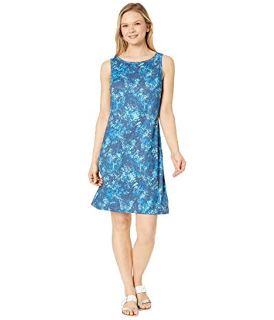 Columbia Chill Rivertm Printed Dress (Static Blue/Static Blue Rubbed Texture) Women