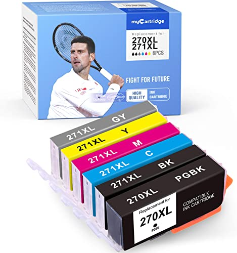 2021 MYCARTRIDGE Compatible Ink Cartridge Replacement for Canon 270XL 271XL lowest PGI-270 XL CLI-271 XL for online sale TS9020 TS8020 MG7720 (PBK, Black, Cyan, Magenta, Yellow, Gray, 6-Pack) outlet online sale