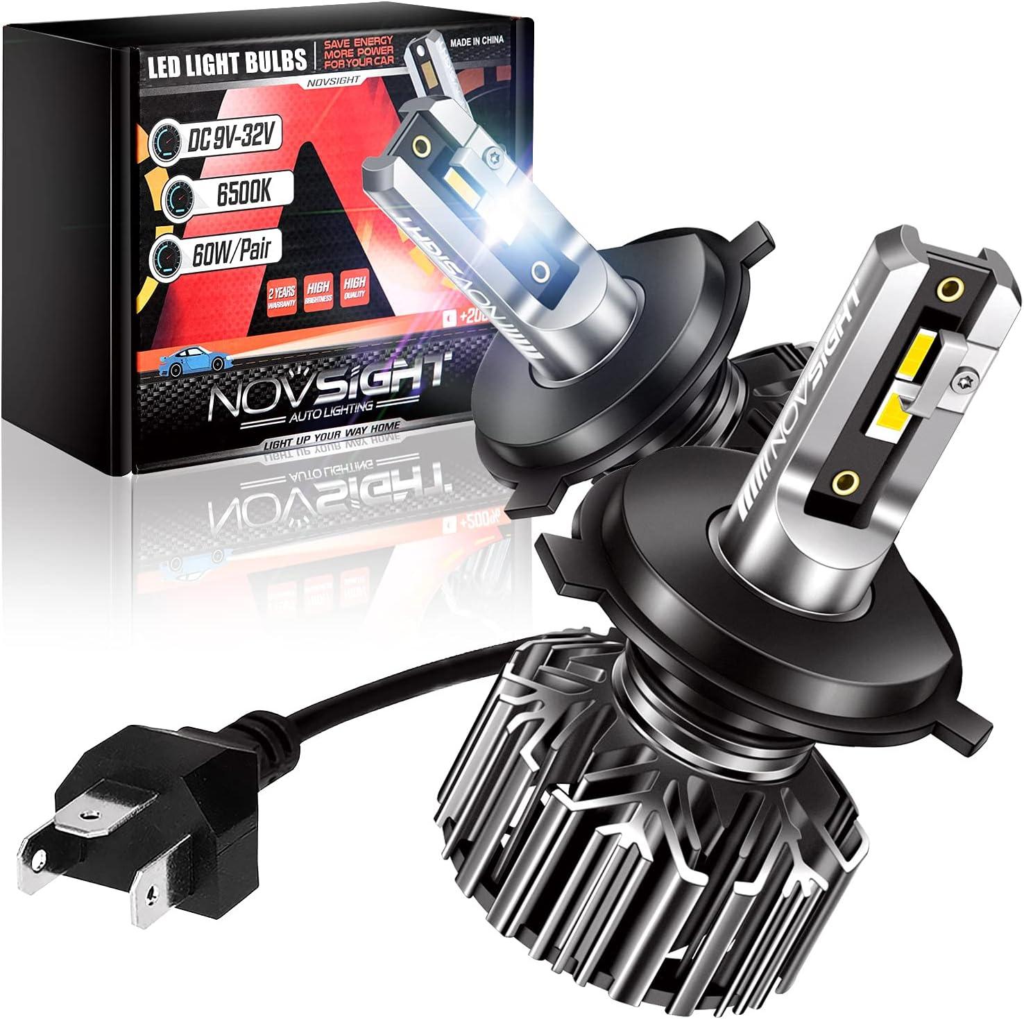 NOVSIGHT H4 Cheap 9003 LED Headlight Lumen 300% Bulbs 12000 Brighter 40% OFF Cheap Sale