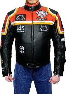 Marlboro Man Mickey Rourke Harley Davidson Movie Replica Men's Leather Jacket