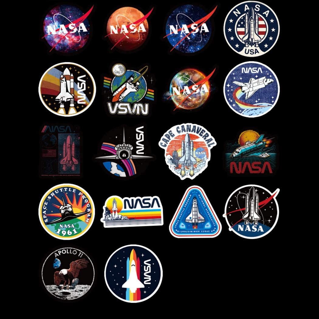 Phones,Guitar Removable,Cute,Beautiful,Stylish Teen Stickers laptops Suitcase Durable Vinyl NASA Cosmic Exploration Sticker 50 Pcs Waterproof Suitable for Boys and Girls in Water Bottles