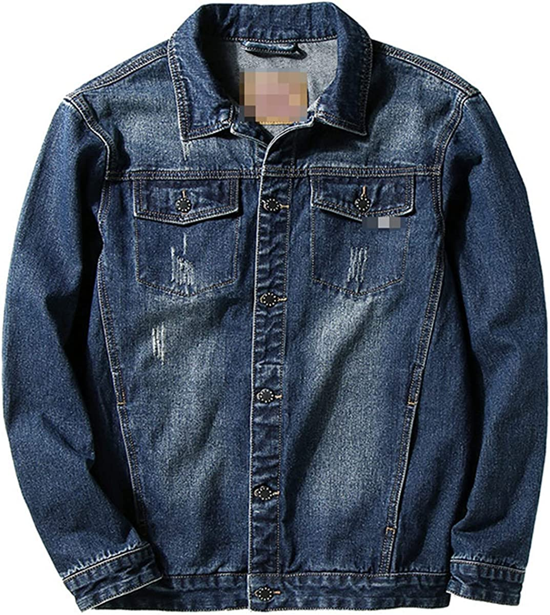 Denim Casual Jacket Spring And Summer Men's Clothing Design Large Asian Size
