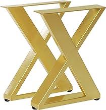 Tafelbeen Set van 2 metalen tafelpoten X vorm eettafel poten Heavy Duty Bench Benen Geschikt voor meubels zoals woonkamer ...
