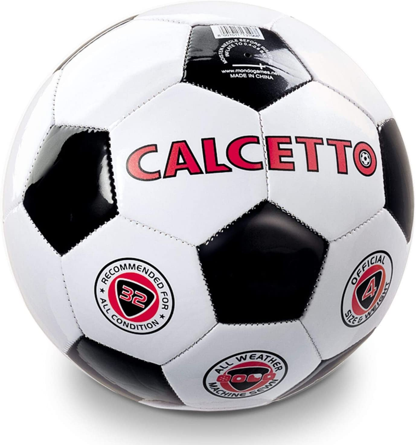 Mondo World 13106-Soccer Ball Size 5 ☆ very popular Sale Special Price 4 Leather