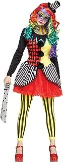 Fun World Women's Freakshow Clown Adult Jester Costume, Multi, Medium/Large