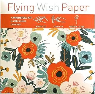 Flying Wish Paper - Write it., Light it, & Watch it Fly - ORANGE BLOSSOMS - 5