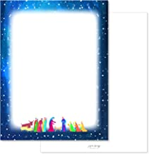 Paper Frenzy Abstract Nativity Religious Christmas Holiday Letterhead Paper Pack of 75