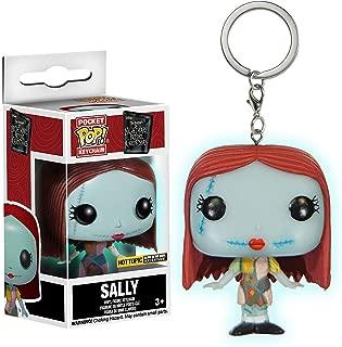 Sally [Glow-in-Dark] (Hot Topic Exc): Funko Pocket Pop! Mini-Figural Keychain & 1 Classic Trading Card Bundle (12142)