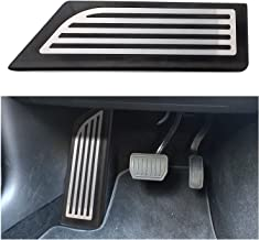 Auto Aluminium Accelerator Brake Pedal Cover for Model 3 Model 3 Silver Dead Pedal SUMK Model 3 Pedal Cover Anti-Slip Gas Brake Pedal