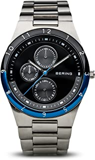 BERING Time 32339-702 Mens Classic Collection Watch with Stainless Steel Band and Scratch Resistant Sapphire Crystal. Designed in Denmark.