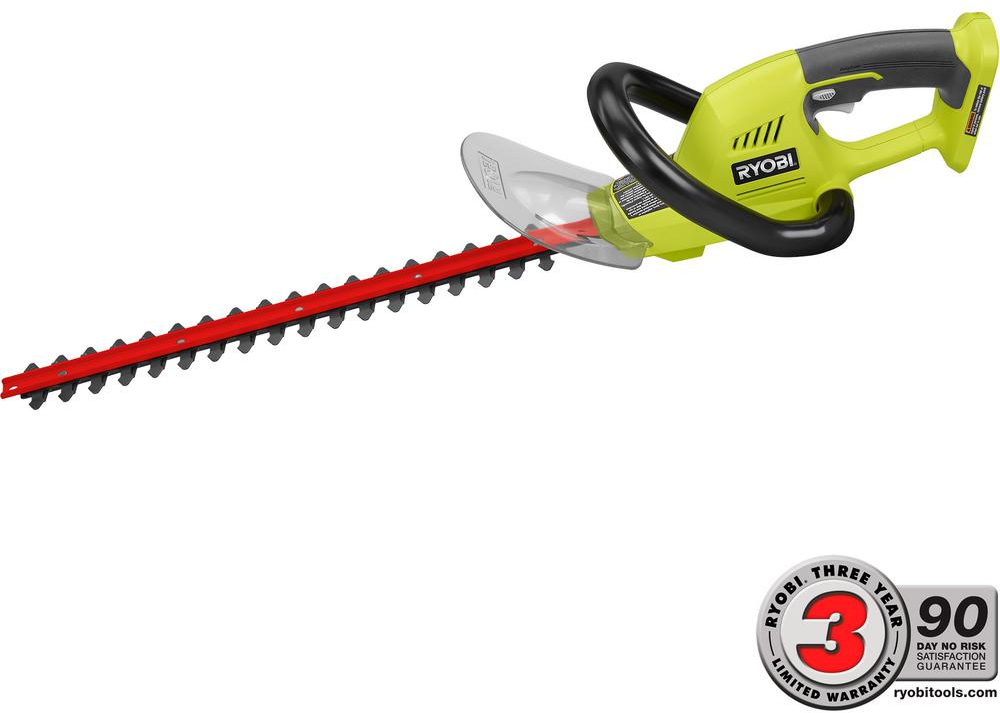 Ryobi ONE+ 18 in. 18-Volt Lithium-Ion Cordless Hedge Trimmer - Battery and Charger Not Included-P2605 - The Home Depot