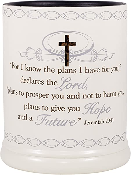 Elanze Designs For I Know The Plans I Have For You Jeremiah 29 11 Ceramic Stone Electric Large Jar Candle Warmer