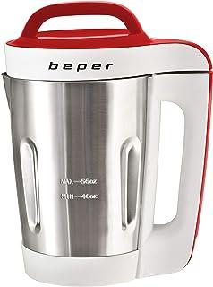 BEPER 90.901 Cuiseur à Soupes 4 Programmes, 1000 W, 1.6 liters, Rouge