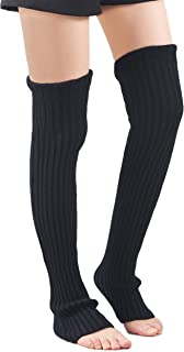 extra long black leg warmers