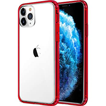 Mkeke Compatible with iPhone 11 Pro Max Case, Compatible with iPhone 11 Pro Max Cover Shock Absorption Phone Cases 6.5 inch-Red