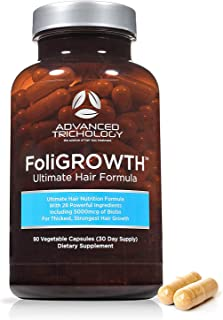 FoliGROWTH Ultimate Hair Nutraceutical – Get Thicker Hair, Reverse Diffuse Thinning..