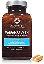 FoliGROWTH Ultimate Hair Nutraceutical – Get Thicker Hair, Reverse Diffuse Thinning Guaranteed - Gluten Free, Vegetarian, ...