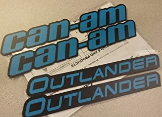 CAN-AM OUTLANDER FENDER MUDGUARD DECAL KIT OCTANE BLUE/BLACK #704905101