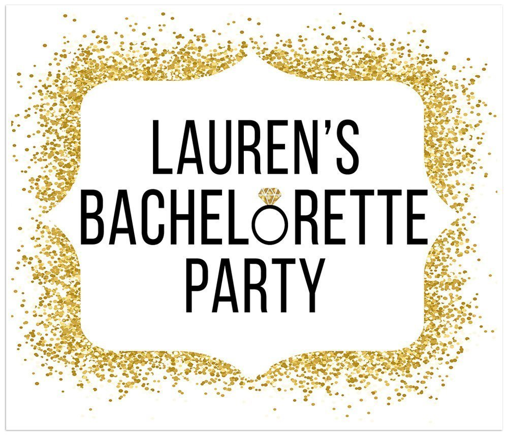 Bachelorette New products world's highest quality popular Banner Gold Glitter Bride Decoration Cheap mail order specialty store to Be Party