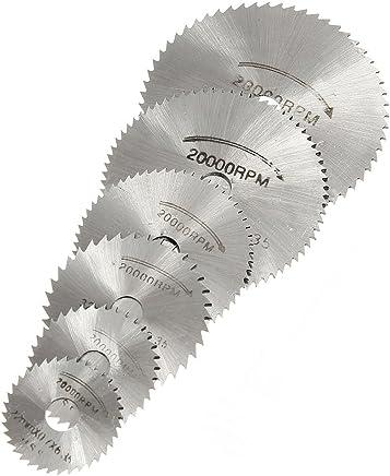 TOOGOO(R) Conjunto de HSS Sierra circular Hoja de Dientes Circulares + Mandril para Dremel