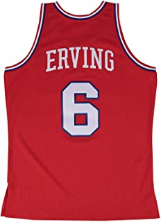Mitchell and Ness Erving Sixers #6 Red Swingman Jersey Red S