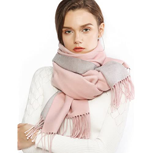 46ab2cf83 Winter Cashmere Wool Scarf Pashmina Shawl Wrap for Women Long Large Warm  Thick Reversible Scarves