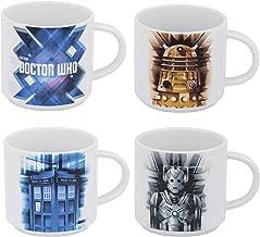 Vandor Doctor Who 4 Piece Stacking Ceramic Mug Set, 10 Ounces Each (16006)