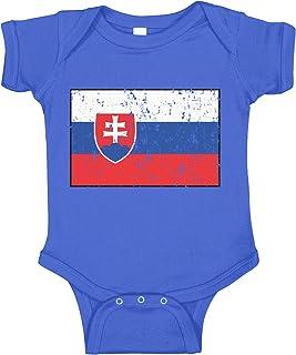 Amdesco Slovakia Flag Slovak Infant Bodysuit
