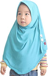 Modest Beauty One piece Baby Kids Muslim Islamic Scarf Hijab for 2-7 Years Old Little Girls Ready to Wear