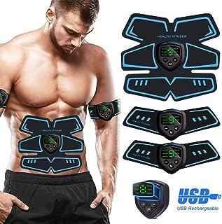 SHENGMI Electroestimulador Muscular, Abdominales Cinturón, Estimulador Muscular Abdominales, ABS Estimulador Muscular USB Recargable para Bdomen/Brazo/Piernas/Glúteos