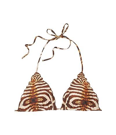 Luli Fama Safari Dreams Wavy Triangle Top (Brown) Women