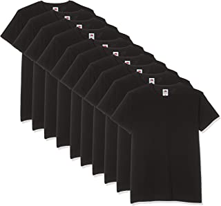 Fruit of the Loom Men's V-Neck Valueweight T-Shirt (Pack of 10)