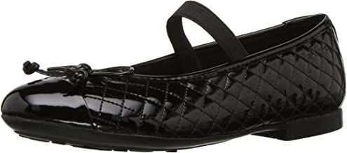 Geox Kids' Plie 48 Quilted Slip-on Patent Ballet Flat Mary Jane