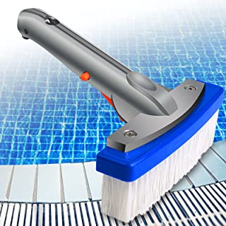 "inifus 5.5"" Heavy Duty Swimming Pool Brush,Pool Brush with Aluminum-Back & Nylon Bristles &EZ Clips,Scrub Brush Ideal for ..."