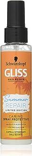 Schwarzkopf Gliss, Spray Protettivo Summer Repair per Capelli Stressati dall'Estate, con Olio di Albicocca e Filtro UVA/UV...