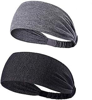 YOUBAMI Sport Athletic Headband for Yoga Running Sports Travel (2 Pack), Elastic Wicking Workout Non Slip Lightweight Mult...