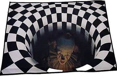 Paillasson d'impression 3D, Motif d'halloween, Paillasson De Tapis De Vision Stéréo, Paillasson d'horreur De Déco