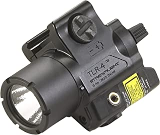 Streamlight 69240 TLR-4 Compact Rail Mounted Tactical Light with Laser Sight – 125 Lumens