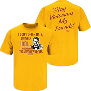 Arizona State Football Fans. Stay Victorious (Anti-Wildcats) Gold T-Shirt (Sm-5X) (X-Large)
