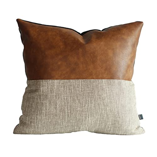 Kdays Halftan Pillow Cover Designer Modern Throw Pillow Cover Decorative  Faux Leather Pillow Cover Handmade Cushion d0b709881c96