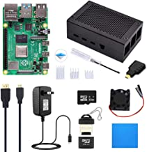 ELECROW Raspberry Pi 4 Starter Kit (4G RAM) with Aluminum Alloy Case and SD Card