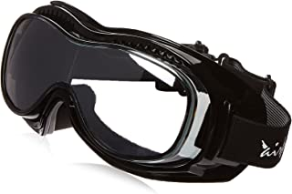 Pacific Coast Airfoil Padded `Fit Over Glasses` Riding Goggles (Black Frame/Silver Smoke Lens)