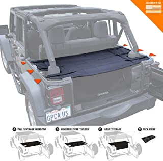 GPCA Jeep Wrangler JK Cargo Cover PRO - Reversible for TOP ON/Topless Sport/Sahara/Freedom/Rubicon Unlimited 4DR 2007-2018 Models